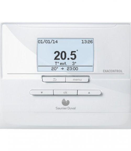 Caldera de condensación para el hogar -Exacontrol E7 RC Termostato Modulante - Saunier Duval - Electro-Gama - Electrodomesticos de calidad en Castelldefels - Barcelona